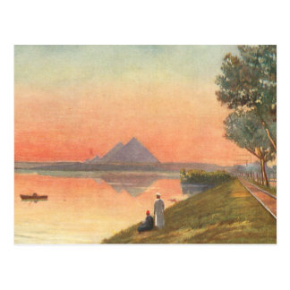 Pyramids in Distance Postcard