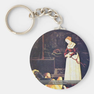 Pyramus And Thisbe By Baldung Hans Keychain