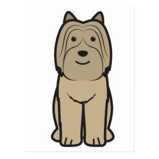 Pyrenean Shepherd Dog Cartoon Postcard