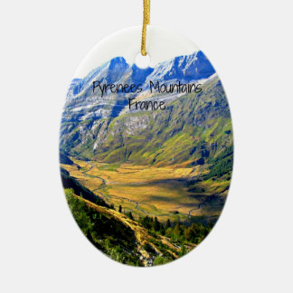 Pyrenees Mountains, France Ceramic Oval Decoration