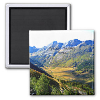 Pyrenees Mountains, France Square Magnet