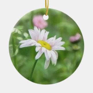 Pyrethrum Daisies -  Tanacetum coccineum Christmas Ornament