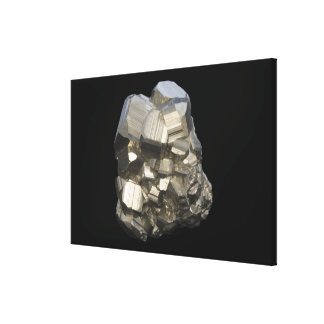 Pyrite crystals, Peru, South America Canvas Print