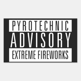 Pyrotechnic Advisory - extremes Fireworks Rectangular Sticker