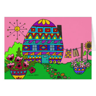 Pysanka House Card