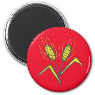 Pysanka Symbol: Wheat 6 Cm Round Magnet