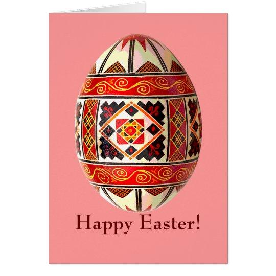 Pysanky Ukrainian Painted Egg Easter Card
