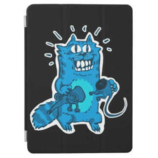 pyscho cat and unlucky mouse funny cartoon iPad air cover