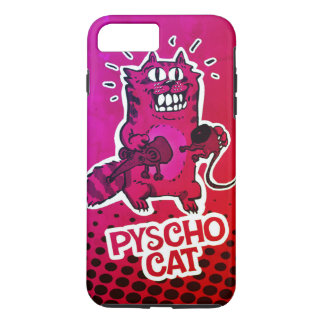 pyscho cat and unlucky mouse funny cartoon iPhone 8 plus/7 plus case