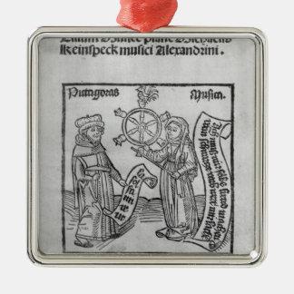 Pythagoras  and Music Christmas Ornament