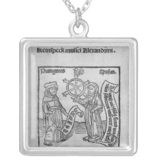 Pythagoras  and Music Silver Plated Necklace