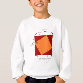 Pythagoras demonstration - math is beautiful. sweatshirt