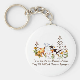 Pythagoras Vegetarian quote Key Ring