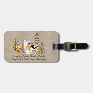 Pythagoras Vegetarian Quote Luggage Tag