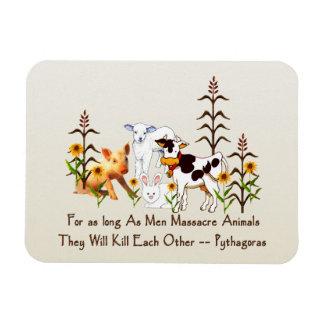 Pythagoras Vegetarian quote Rectangular Photo Magnet