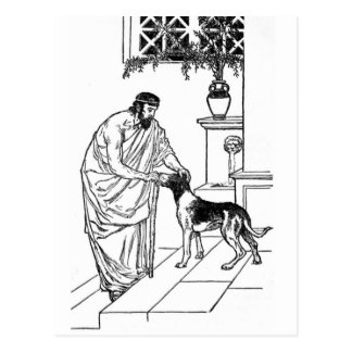 Pythagoras with Dog Postcard