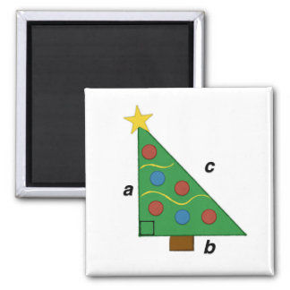 Pythagorean Theorem Christmas Geom-e-tree Square Magnet
