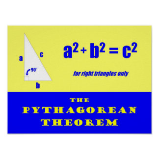 Pythagorean Theorem Poster