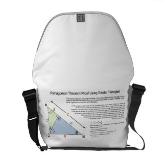 Pythagorean Theorem Proof Using Similar Triangles Courier Bags