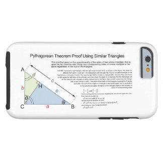 Pythagorean Theorem Proof Using Similar Triangles Tough iPhone 6 Case