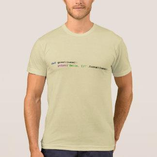 Python Greeting shirts and tops