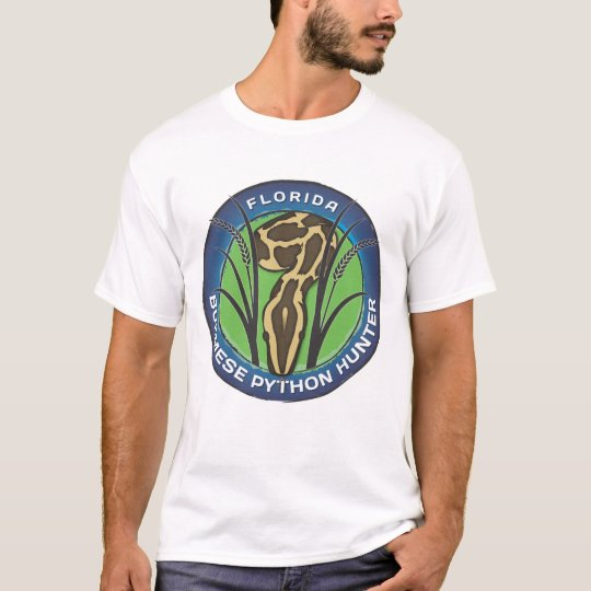 Python Hunter T-shirt. Blue Logo T-Shirt