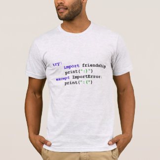 Python Program: Let's Be Friends T-Shirt