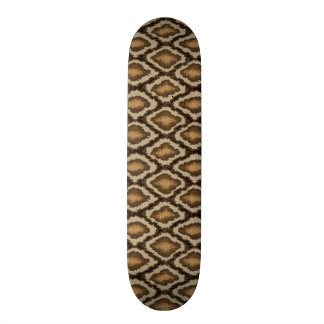 Python snake skin pattern 2 21.3 cm mini skateboard deck