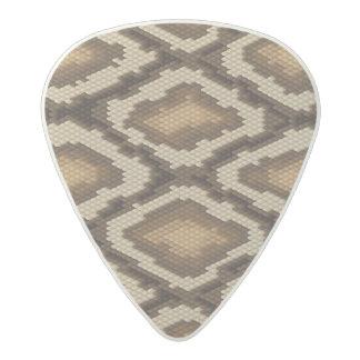 Python snake skin pattern 2 acetal guitar pick