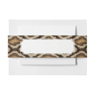 Python snake skin pattern 2 invitation belly band