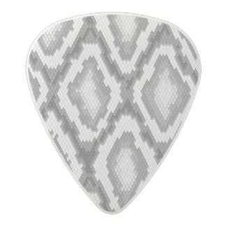 Python snake skin pattern acetal guitar pick
