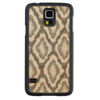 Python snake skin pattern maple galaxy s5 slim case