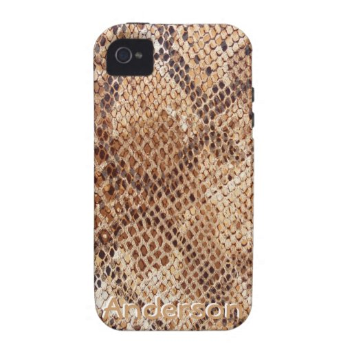 Python Snake Skin Print for iPhone iPhone 4/4S Covers