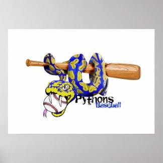Pythons Baseball Poster