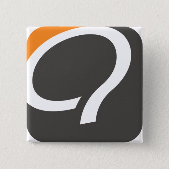 Q Button - Orange