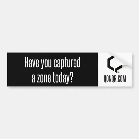 Q Captured Zone Bumper Sticker