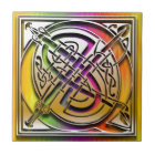 Q Celtic Rainbow Custom Monogram Tile