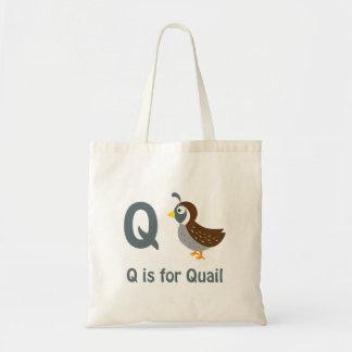 Q is for Quail Bag