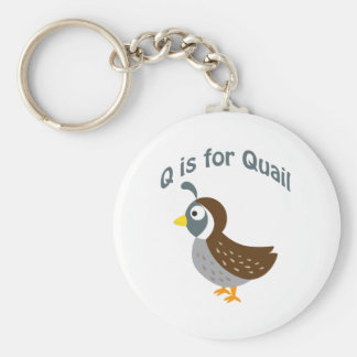 Q is for Quail Keychains