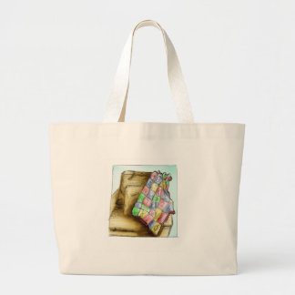 Q is for Quilt Jumbo Tote Bag