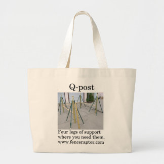 Q-post Tote Bag with pic and message