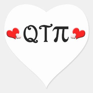 Q T Pi Heart Sticker