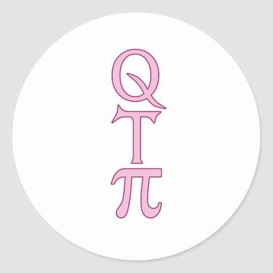 Q T Pi Products Classic Round Sticker