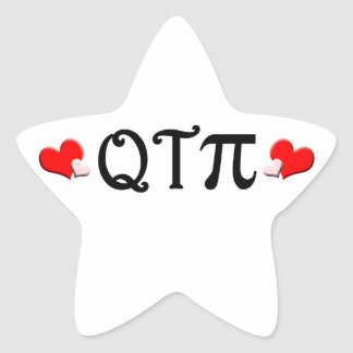 Q T Pi Star Sticker