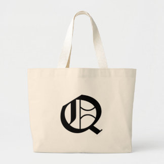 Q-text Old English Large Tote Bag