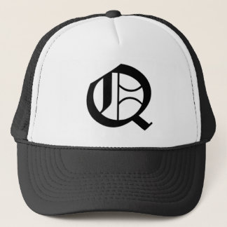 Q-text Old English Trucker Hat