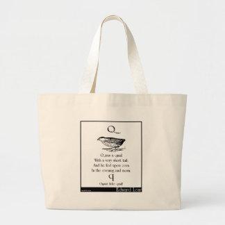 Q was a quail canvas bag