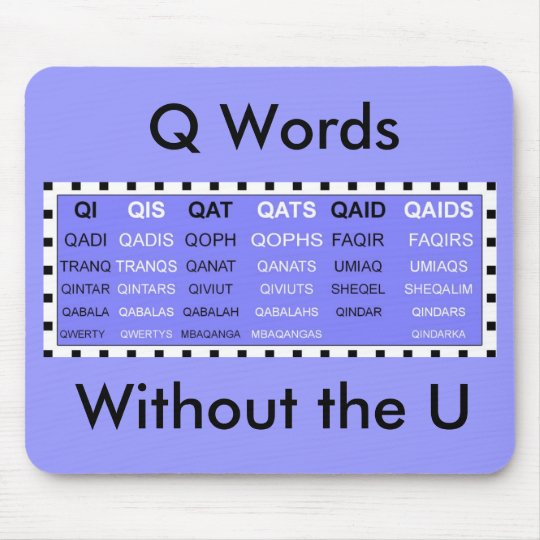 Q Words without the U mousepad
