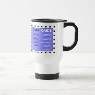 Q words without the U white travel mug