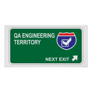 QA Engineering Next Exit Poster
